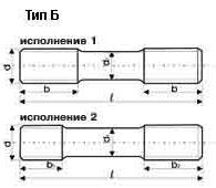 Шпилька ГОСТ 22032-76, Тип Б