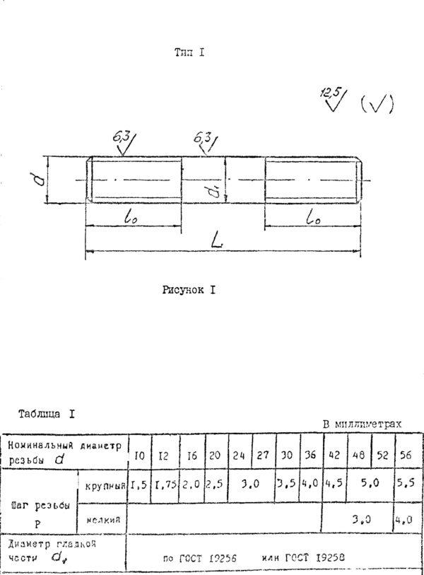 Шпилька ОСТ 26-2040-96 для фланцевых соединений