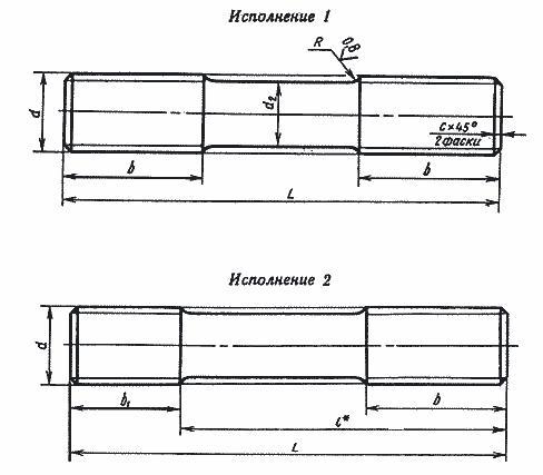 ШПИЛЬКИ ГОСТ 9066-75 ДЛЯ ФЛАНЦЕВЫХ СОЕДИНЕНИЙ