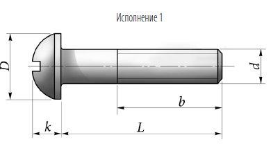 ВИНТ ГОСТ 17473-80 С ПОЛУКРУГЛОЙ ГОЛОВКОЙ